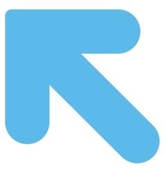 Arrow up left flat blue color icon vector