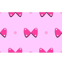 Bow and dot seamless pattern vector image vector image