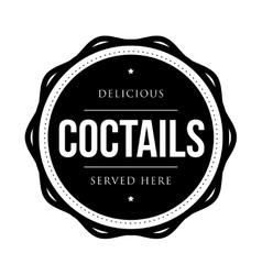 Coctails vintage stamp vector