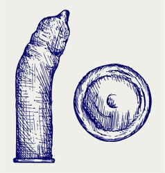 Condom ready to use vector image vector image