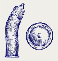 Condom ready to use vector image