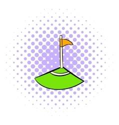 Corner icon comics style vector