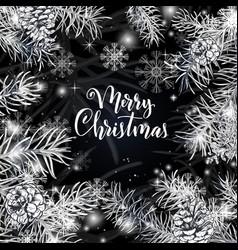elegant christmas black background vector image vector image