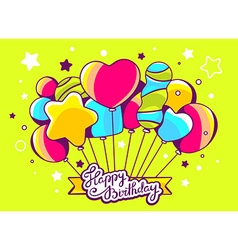 festive bunch of colorful striped balloon vector image vector image
