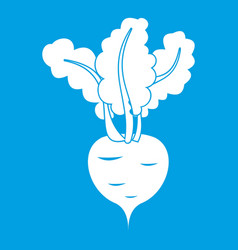 Fresh beetroot icon white vector