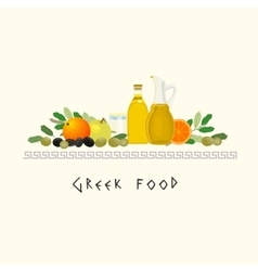 Greek diet image vector
