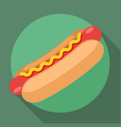 Hot dog icon vector