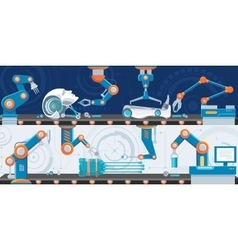 Industrial automation horizontal banners vector
