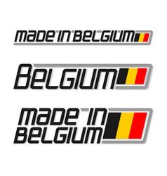 made in belgium vector image vector image