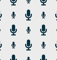 microphone icon sign Seamless pattern with vector image