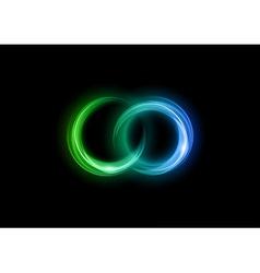 neon light dark green blue vector image vector image
