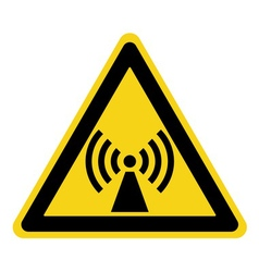 Non ionized radiation sign vector