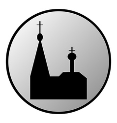 Orthodox church button vector image vector image