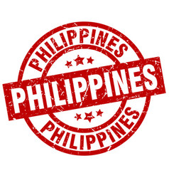 Philippines red round grunge stamp vector