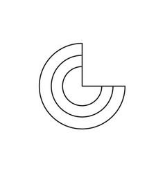 pie line chart icon vector image
