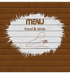 restaurant menu paint on wooden background vector image vector image