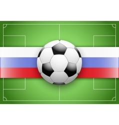 Russia flag and championship of football vector