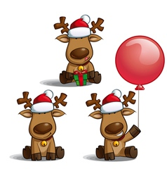 Santas Elks Sitting vector image