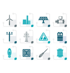 Stylized electricity and power icons vector