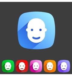User avatar face profile flat icon vector
