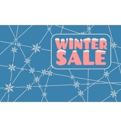 Winter sale inscription with snowflakes vector image vector image