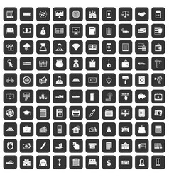 100 credit icons set black vector