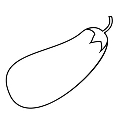 Eggplant icon outline style vector