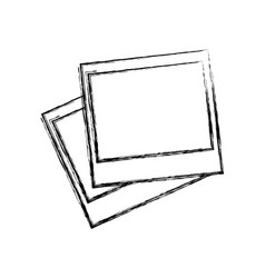 Blank instant photos vector