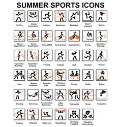 Summer sports icons vector