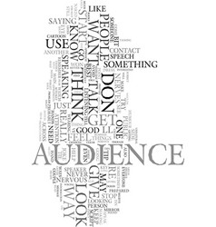 Worst tips to give a speaker text word cloud vector