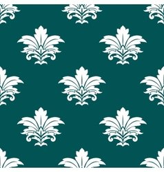 Damask style repeat arabesque pattern vector
