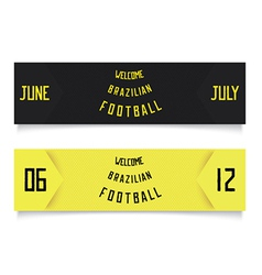 Two design for football tickets vector