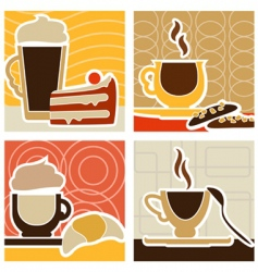 coffee and sweet vector image