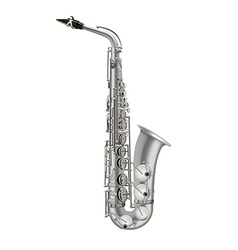 Photorealistic saxophone isolated on a white vector