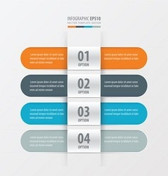 Rounded banner design orange blue gray color vector