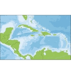 Map of caribbean vector