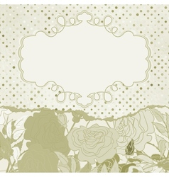 Vintage rose flowers card vector