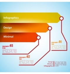 Three arrows use for infographics Can be used vector image