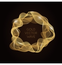Abstract bright gold wave in the shape of circle vector