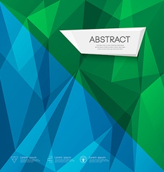 Abstract triangles geometric blue and green concep vector image vector image