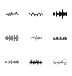 Audio track icons set simple style vector
