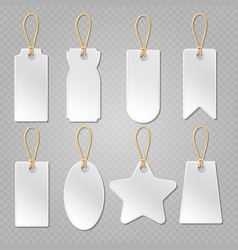 blank baggage labels white luggage tag clothes vector image vector image