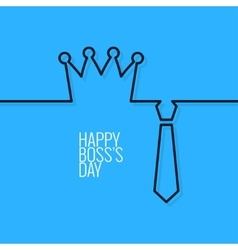 Boss day continuous line background vector