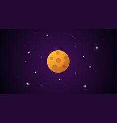 cartoon planet with craters vector image