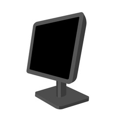 Computer monitor icon in monochrome style isolated vector