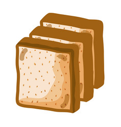 Delicious and fresh chopped bread vector