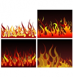 fire backgrounds set vector image