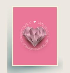 Glacier diamond heart vector