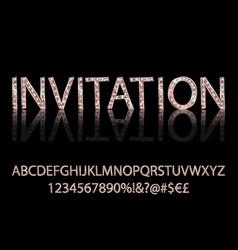 Gold alphabetic fonts vector