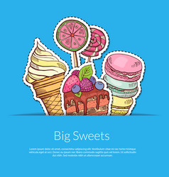 hand drawn sweets in pocket vector image vector image